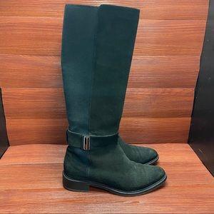 Aquatalia Suede knee high tall boots black - 7.5